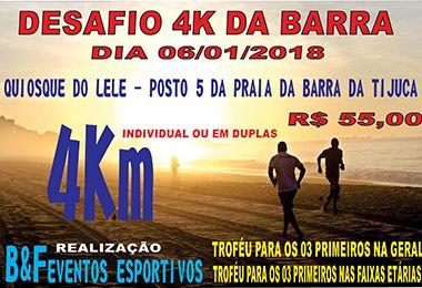 Desafio 4K da Barra - sábado - 06/01 - Avenida Lucio Costa